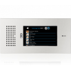 "Vandal resistant touchscreen station 7"" - base with front panel, operation in landscape mode"
