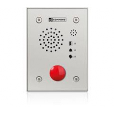 Hybrid IoIP/SIP vandal resistant station with one call mushroom button