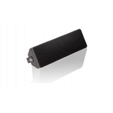 Compact loudspeaker with mounting bracket, colour black