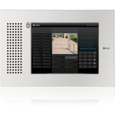 "Vandal resistant touchscreen station 10"" - base with front panel, operation in landscape mode"
