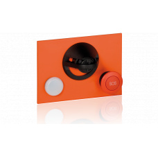 Microphone module with white conversation lamp and one red mushroom button for EE8000 series