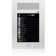 "Vandal resistant touchscreen station 10"" - base with front panel, operation in portrait mode"