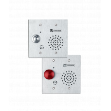 2-wire 2-GANG substation with red mushroom button, tamper resistant, Commend