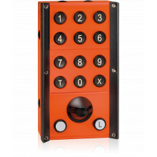 Industrial station with full keypad, 2 LED buttons and microphone