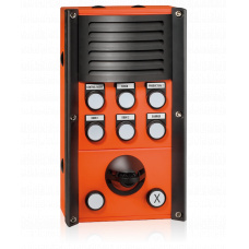 Industrial station with 8 LED buttons, loudspeaker and microphone
