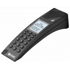 IP desktop station with standard keypad and LCD display
