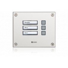 WS vandal resistant direct dialling module with three buttons