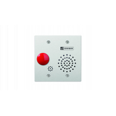 Hybrid IoIP/SIP vandal resistant 2-Gang station with one mushroom button