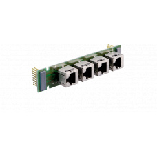 GE 800 Installation board with 4-shielded RJ45 plugs