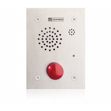 Analogue vandal resistant station with one mushroom button