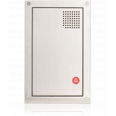Frontplate for cell terminal with call/emergency button