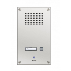 Analogue vandal resistant wallmount station with one call button