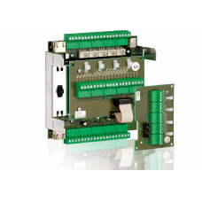 Cell electronics module for remote mounting on a DIN-rail with surface sensing function