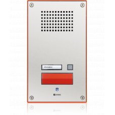 Analogue vandal resistant wallmount station with one emergency call button and a call button