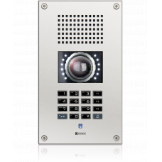 IP vandal resistant wallmount station with full keypad and integrated camera