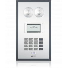 SIP wallmount station with keypad, LCD display and anti-bacterial membrane covered surface (IEC-60601-1)