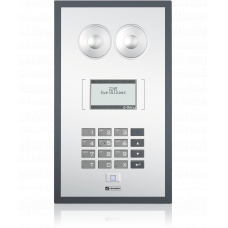 IP polycarbonate wallmount station with foil surface, standard keypad and LCD