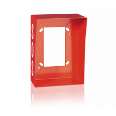 "Surface-mount box for Series EF, orange with ""SOS"""