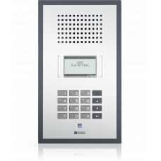 IP polycarbonate wallmount station with standard keypad and LCD