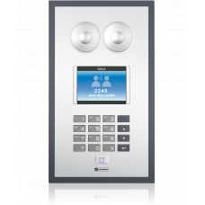 IP polycarbonate wallmount station with foil surface, standard keypad and TFT- Display