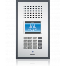IP polycarbonate wallmount station with standard keypad and TFT- Display