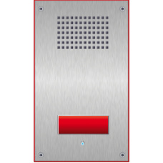 Vandal resistant SIP wallmount station with one emergency call button