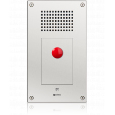 IP vandal resistant wallmount station with one mushroom button